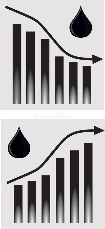 olja stock illustrationer