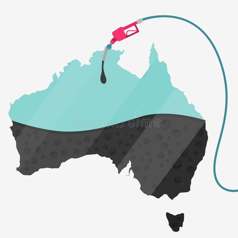Olja av Australien royaltyfri illustrationer