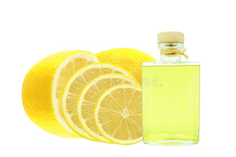 Olja av citronen royaltyfria foton