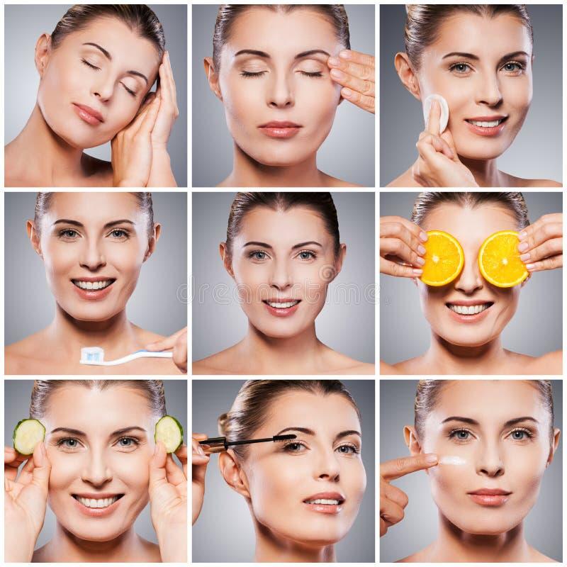 olja för badskönhetsammansättning soaps behandling fotografering för bildbyråer