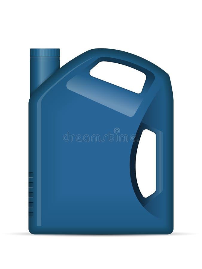 olja för flaskkanistermotor royaltyfri illustrationer