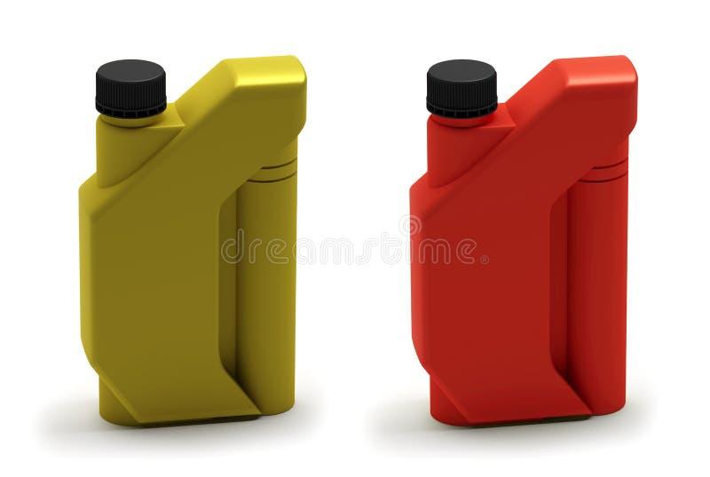 olja för flaskkanistermotor vektor illustrationer