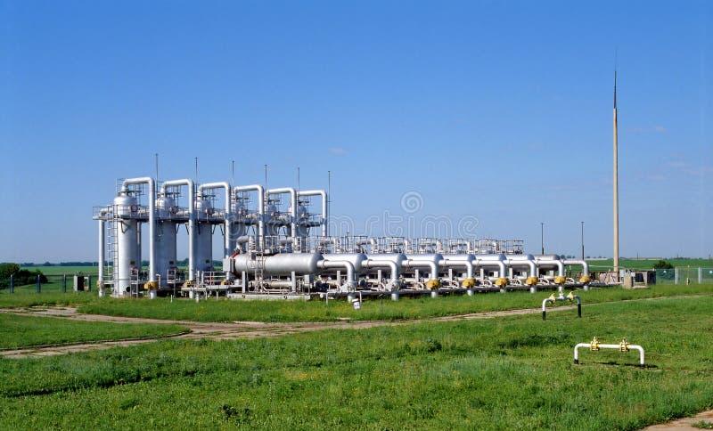 olja för gasindustri royaltyfria foton