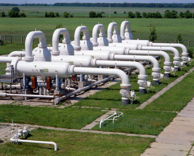 olja för gasindustri arkivfoto
