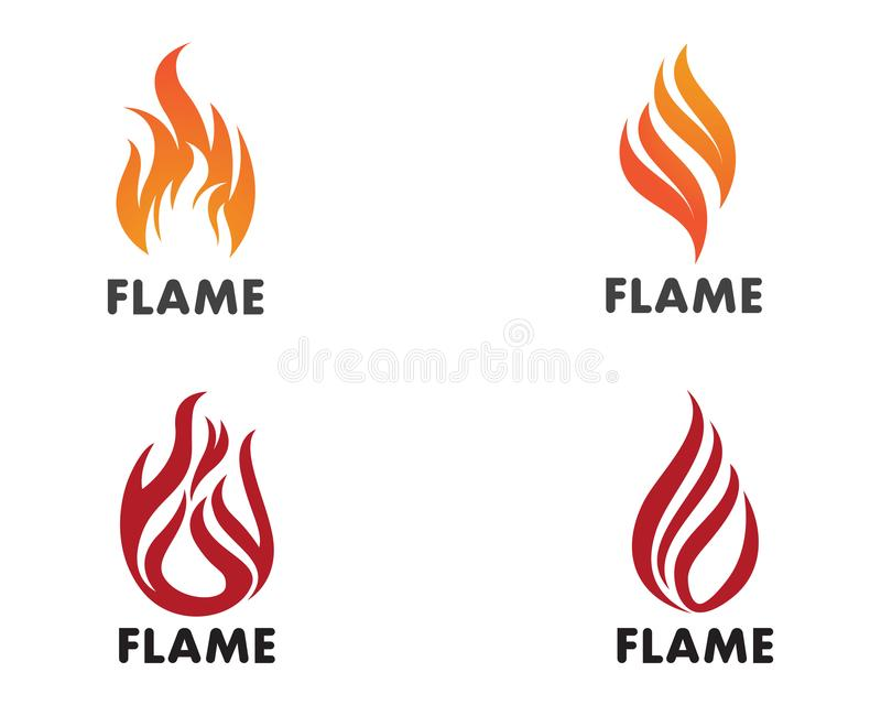 Olja för symbol för brandflammaLogo Template vektor, gas och energilogo Co stock illustrationer