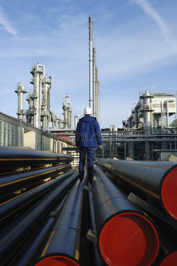 olja för tung industri för gas arkivbild