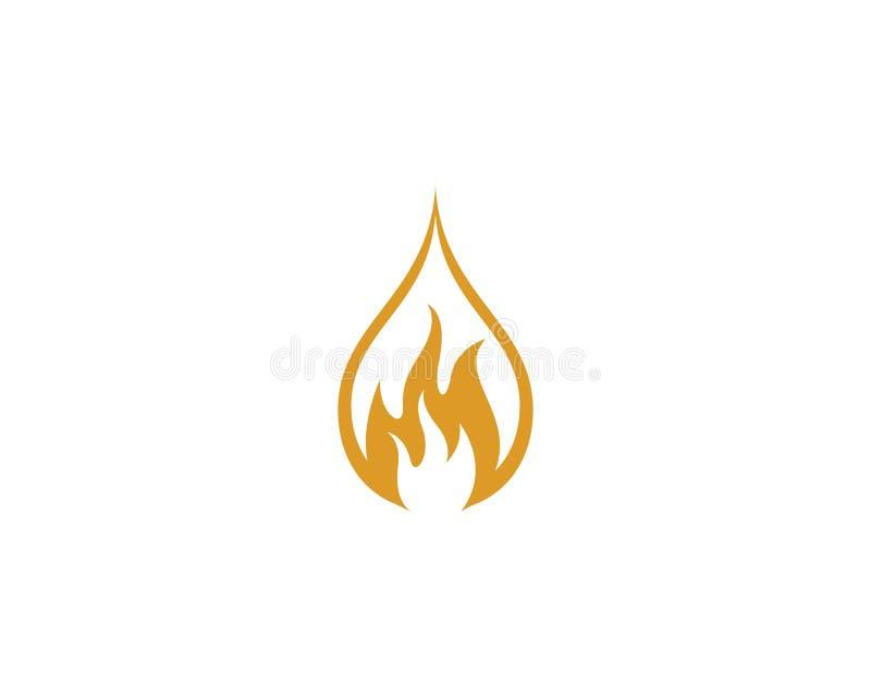 Olja f?r symbol f?r brandflammaLogo Template vektor, gas och energilogobegrepp vektor illustrationer