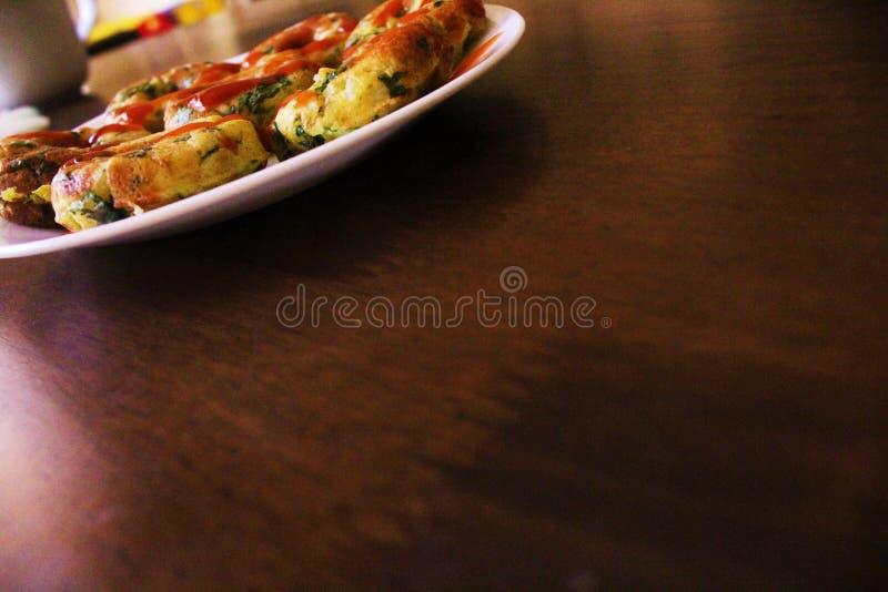 Olja-fri potatiscirkel arkivfoton