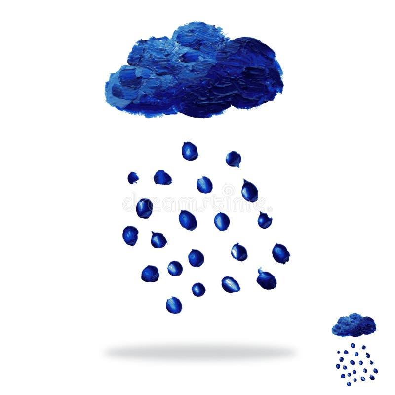 Olja målat moln vektor illustrationer