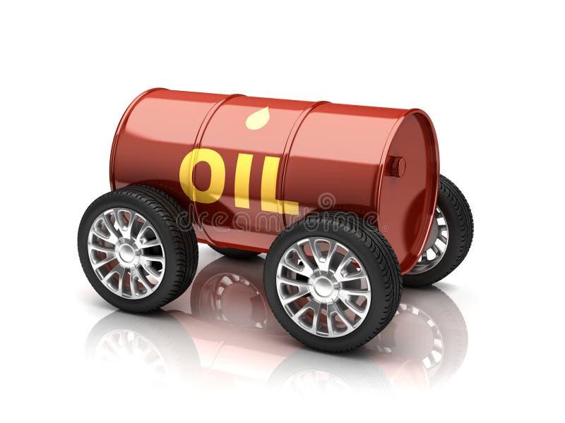 Olja tankar begrepp för medel 3d royaltyfri illustrationer