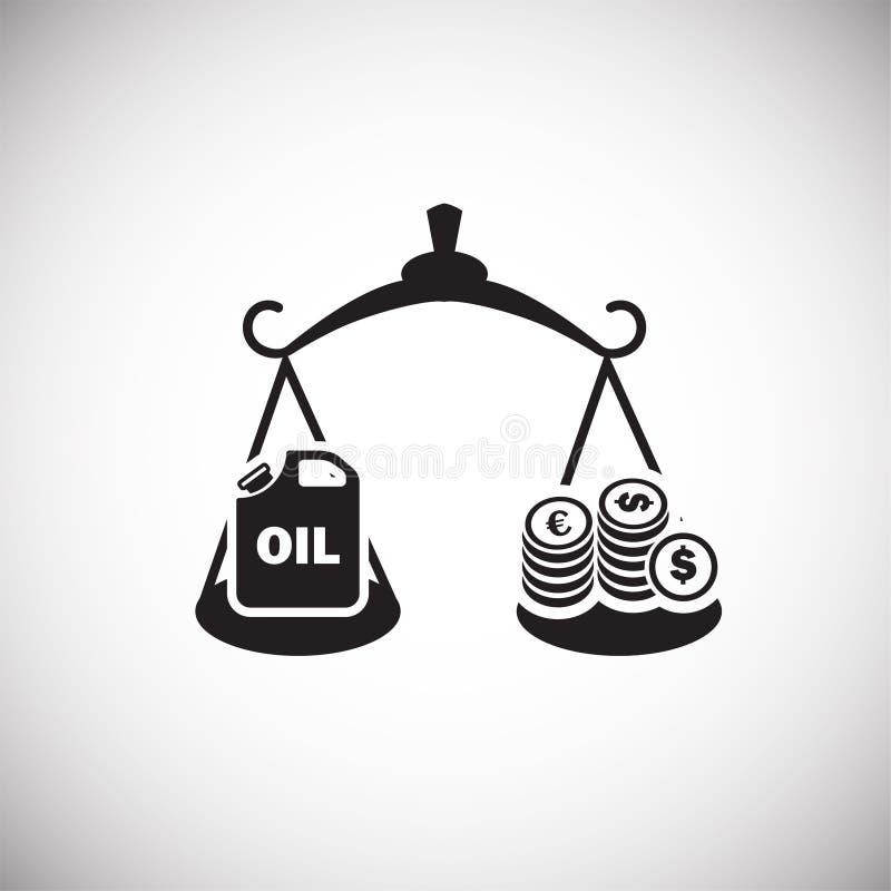 Oljahastighetsvåg på vit bakgrund royaltyfri illustrationer