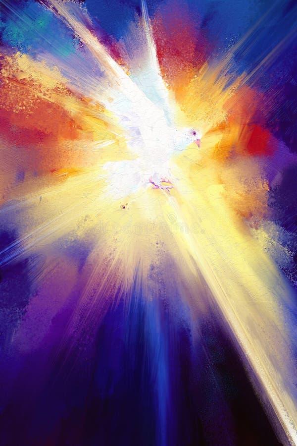 Oljamålningar för helig ande royaltyfri illustrationer