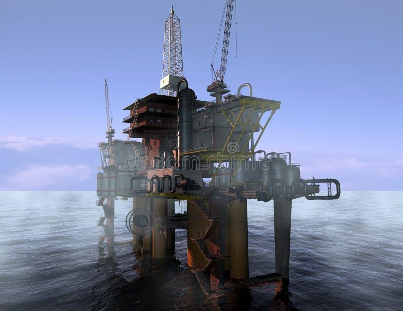 oljaproduktion royaltyfri illustrationer