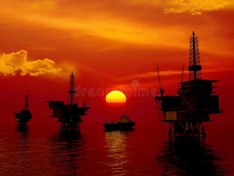 oljaproduktion fotografering för bildbyråer
