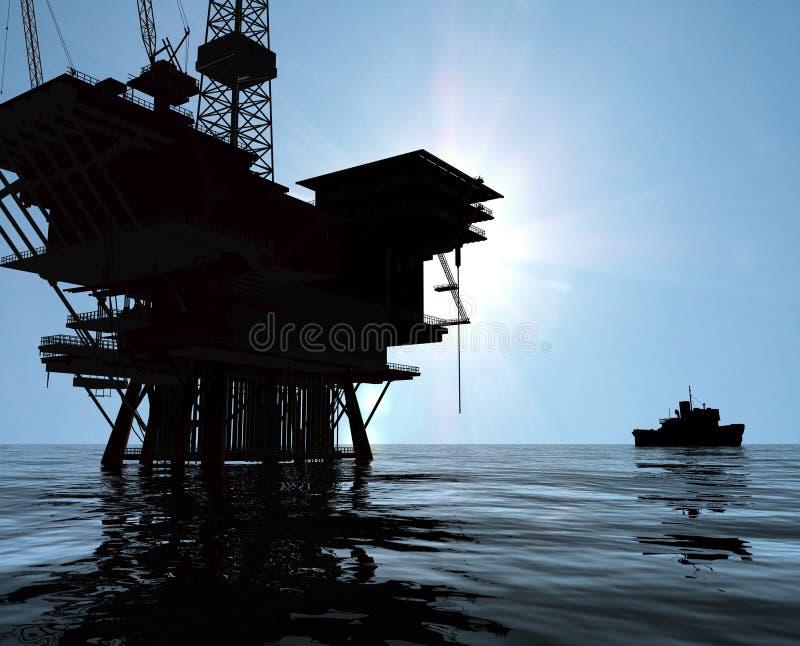 oljaproduktion stock illustrationer