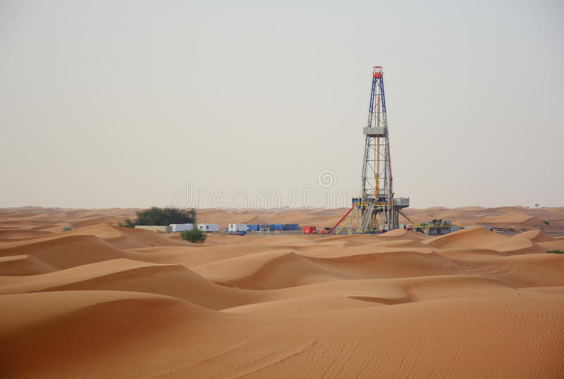 Olje- brunn arkivfoto