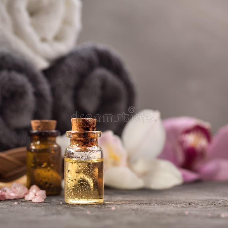 Olje- closeup för massage arkivbilder