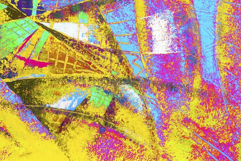 Olje- färg för abstrakt målning på kanfas vektor illustrationer