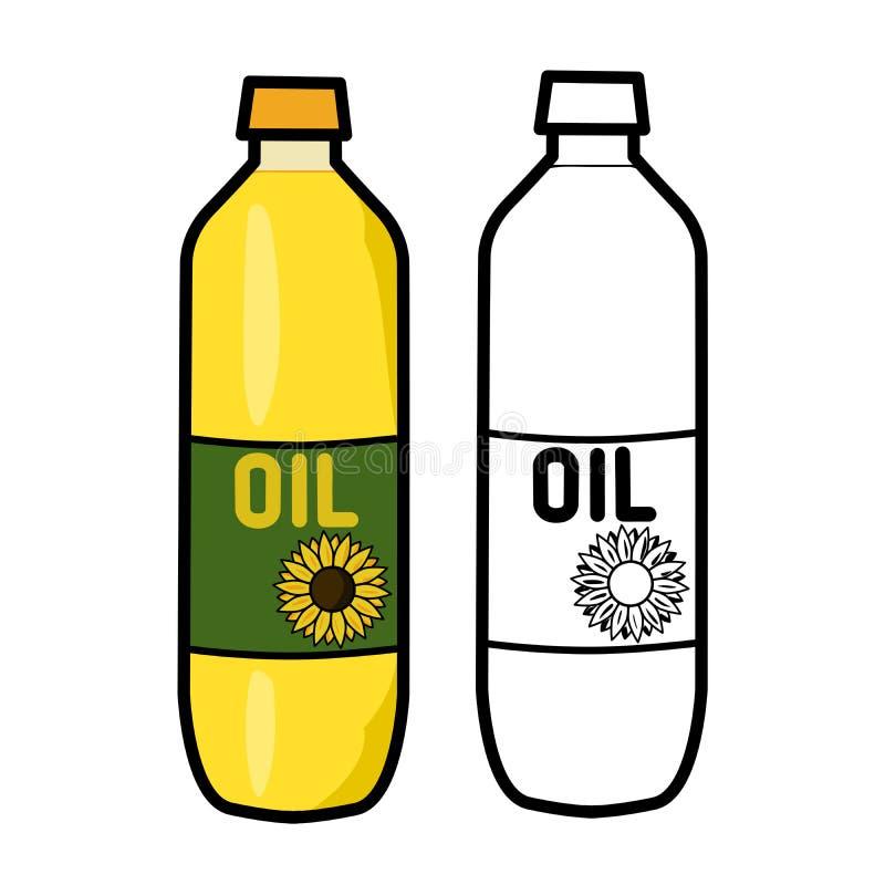 Olje- flaska royaltyfri illustrationer