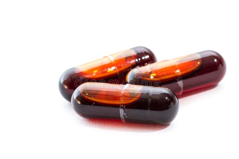 Olje- kapslar för Krill royaltyfri fotografi