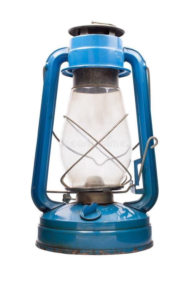 Olje- lampa, blåttfärg på a fotografering för bildbyråer