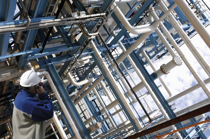 Olje- och gasarbetare royaltyfria foton