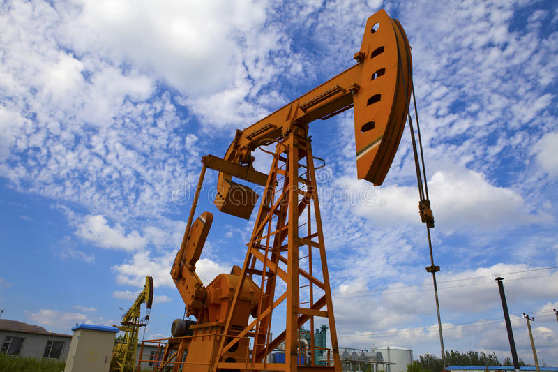 Olje- pumpar. royaltyfri fotografi