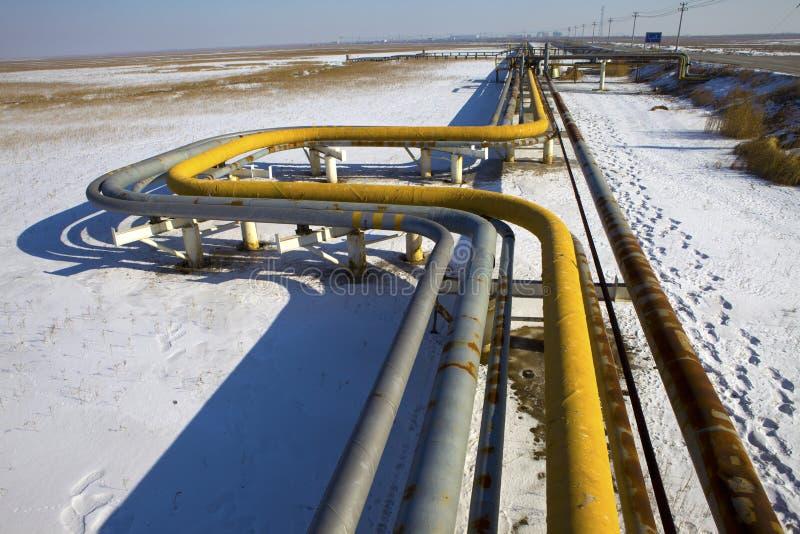 Olje- rörledning royaltyfria bilder