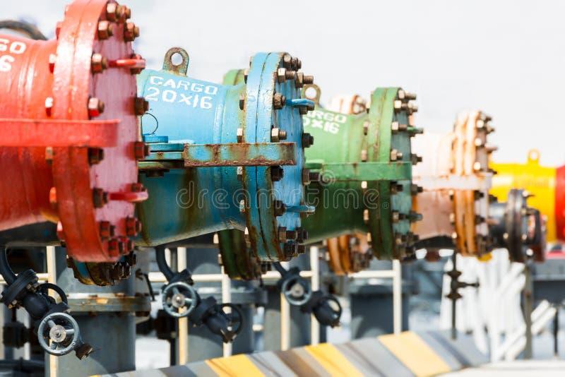 Olje- rörledning av tankfartyget arkivfoton