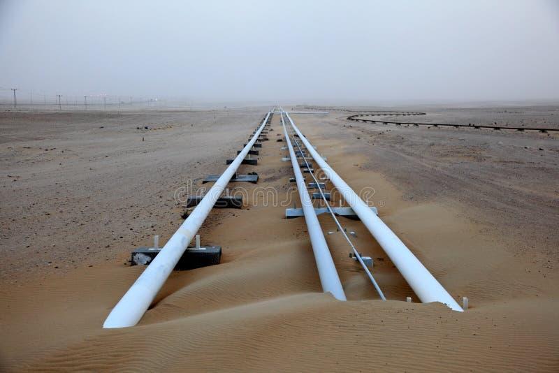 Olje- rörledning i Qatar royaltyfri bild