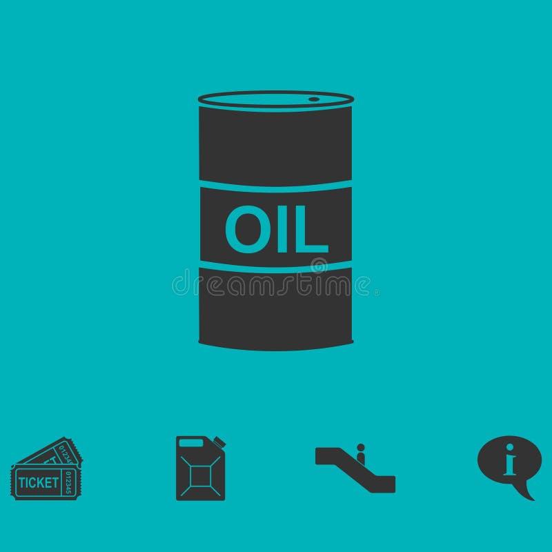 Olje- symbolslägenhet för trumma vektor illustrationer