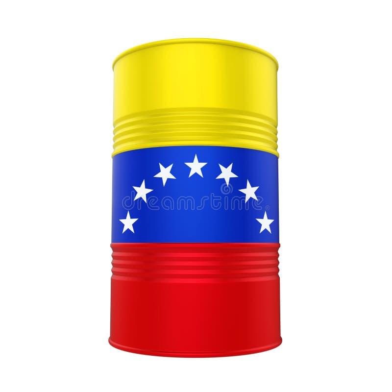 Olje- trumma för Venezuela flagga stock illustrationer