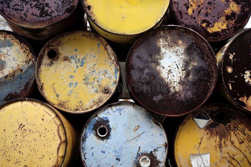 Olje- trummor. royaltyfri foto