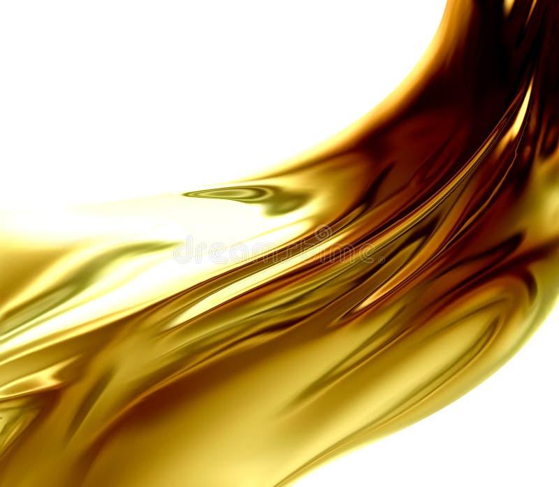 Olje- våg vektor illustrationer
