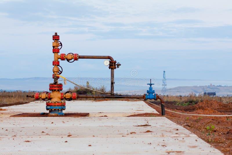 Olje- wellhead royaltyfria bilder