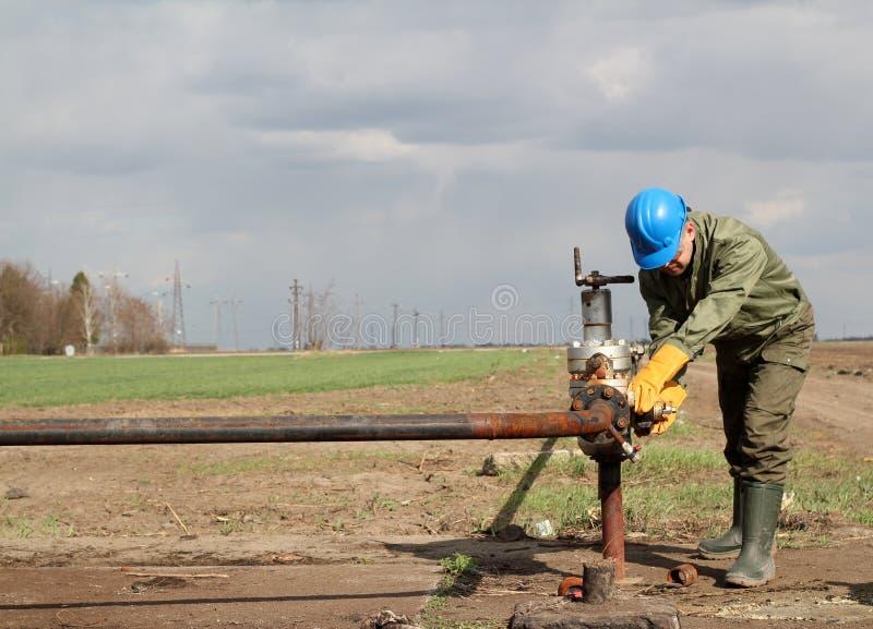 Oljearbetare fotografering för bildbyråer