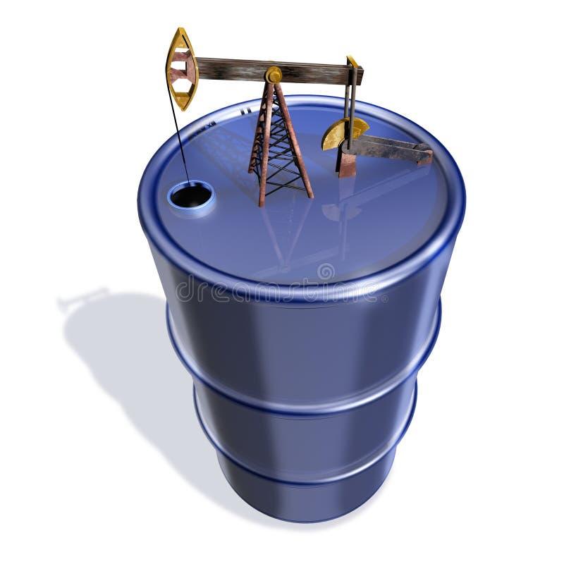 oljebehållare stock illustrationer