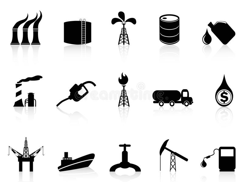 Oljeindustrisymbol stock illustrationer
