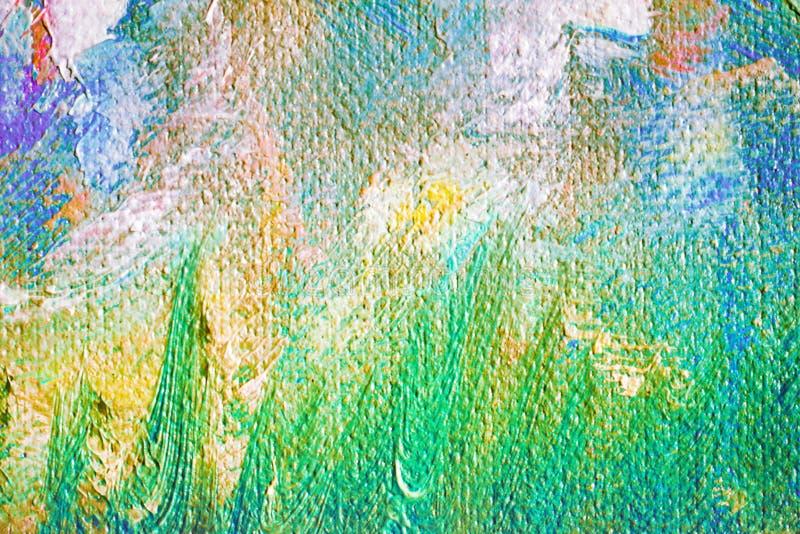 Oljemålning på kanfas vektor illustrationer