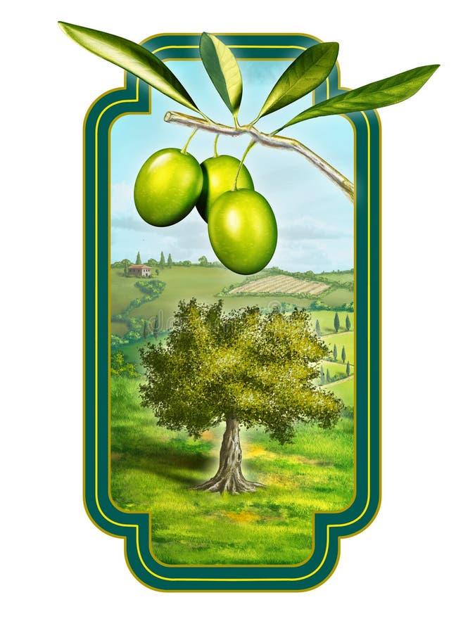 oljeolivgrön royaltyfri illustrationer