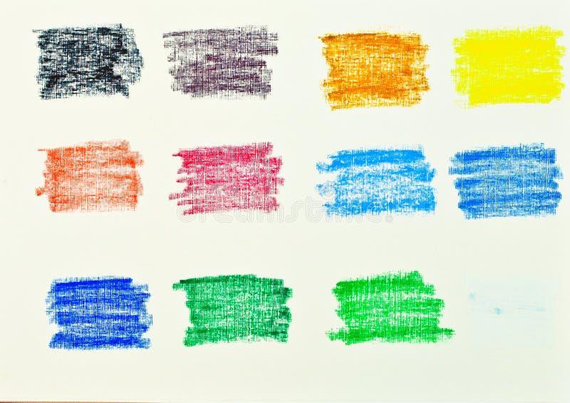 Oljepastellfärger arkivfoton