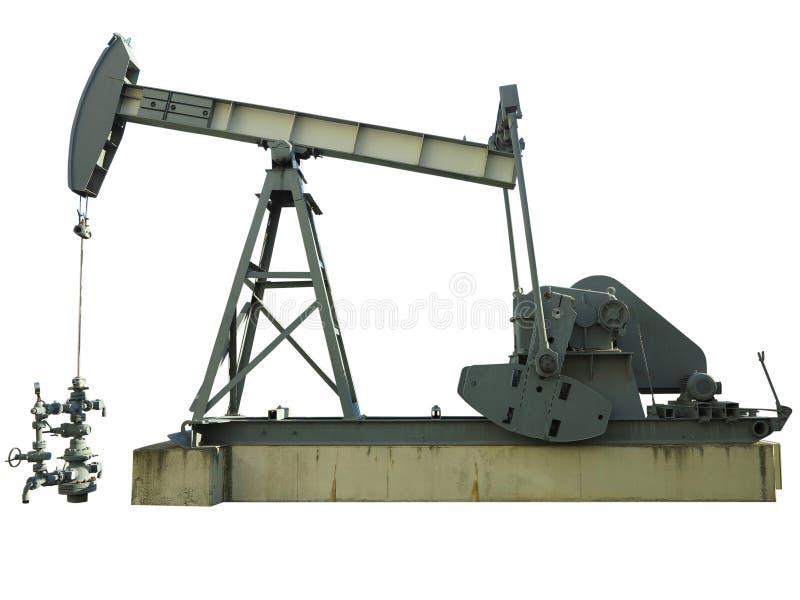 Oljeplattformpumpmaskin för industriell utdragning för rå oljor royaltyfria bilder