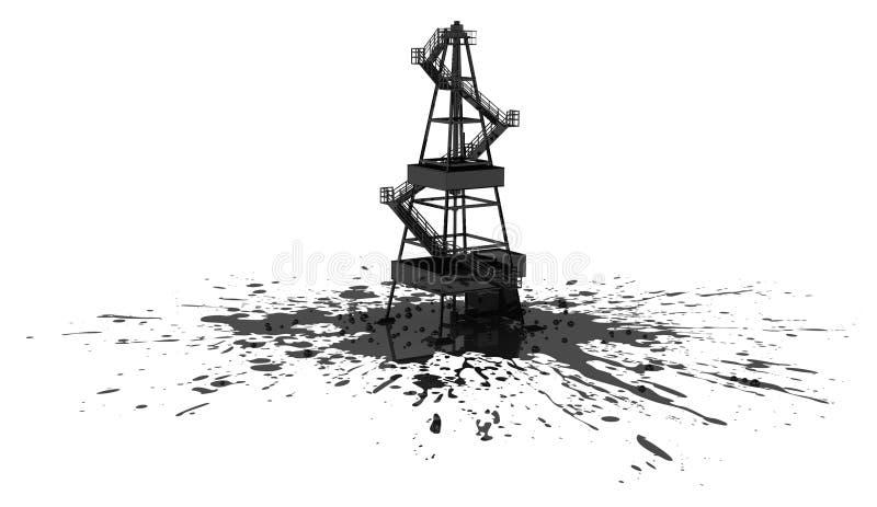 oljeplattformspill royaltyfri illustrationer