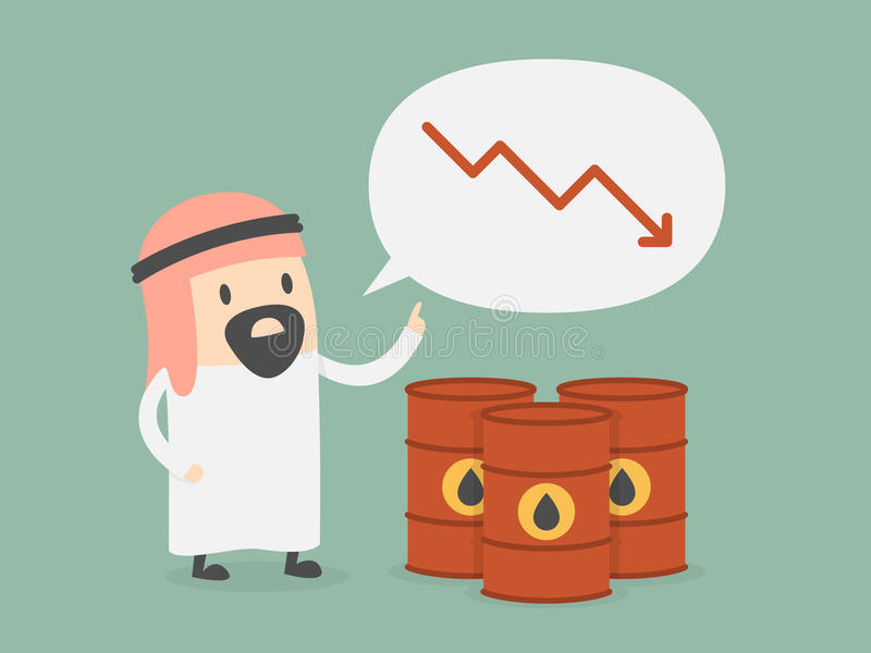 Oljeprisdroppar stock illustrationer