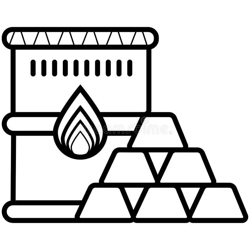 Oljeprissymbol vektor illustrationer