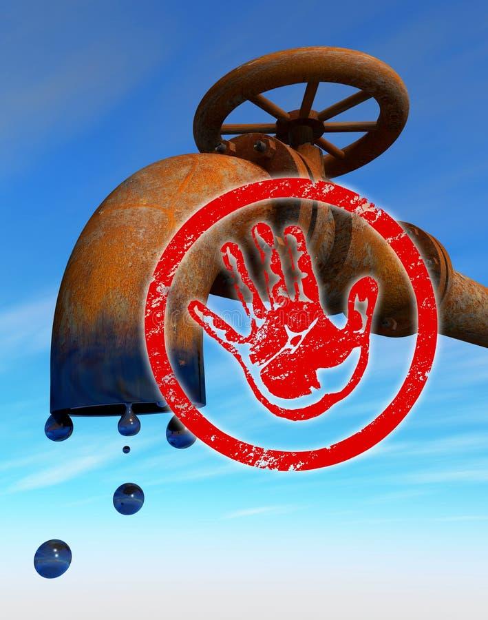oljeproduktionstopp stock illustrationer