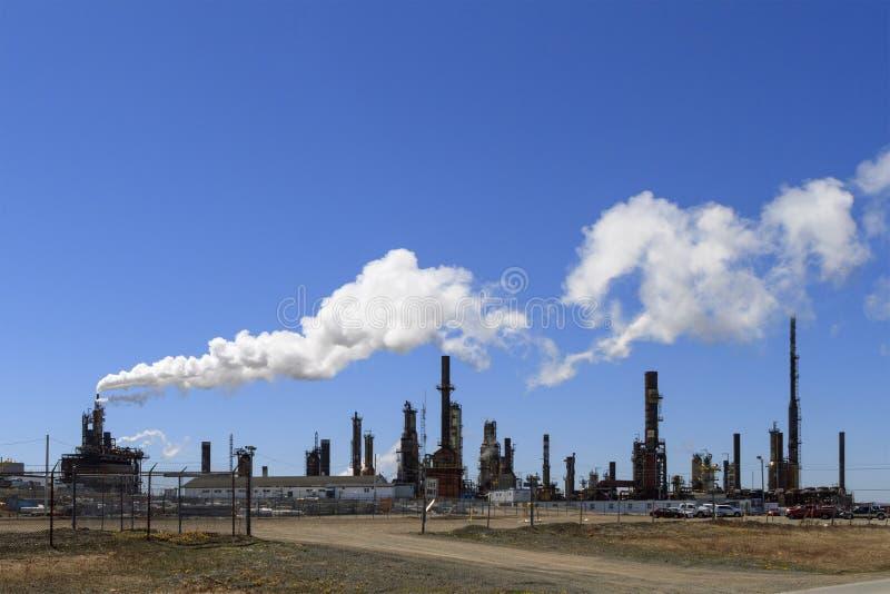 Oljeraffinaderi för oljor för norrAtlanten arkivfoton