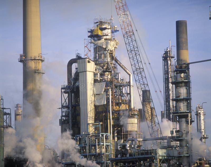 Oljeraffinaderi i Sarnia, Kanada royaltyfria foton