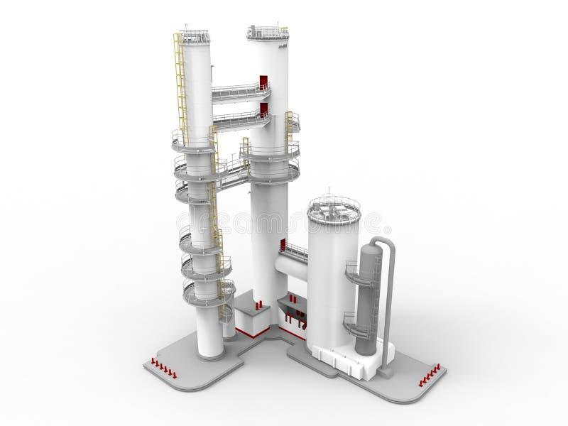 Oljeraffinaderiillustration stock illustrationer