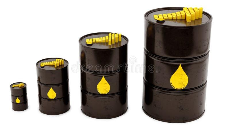 Oljetrummor vektor illustrationer